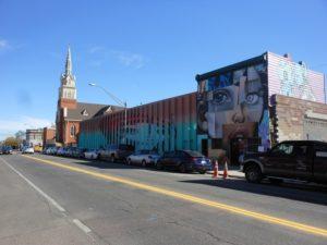 RiNo Denver street art painting view